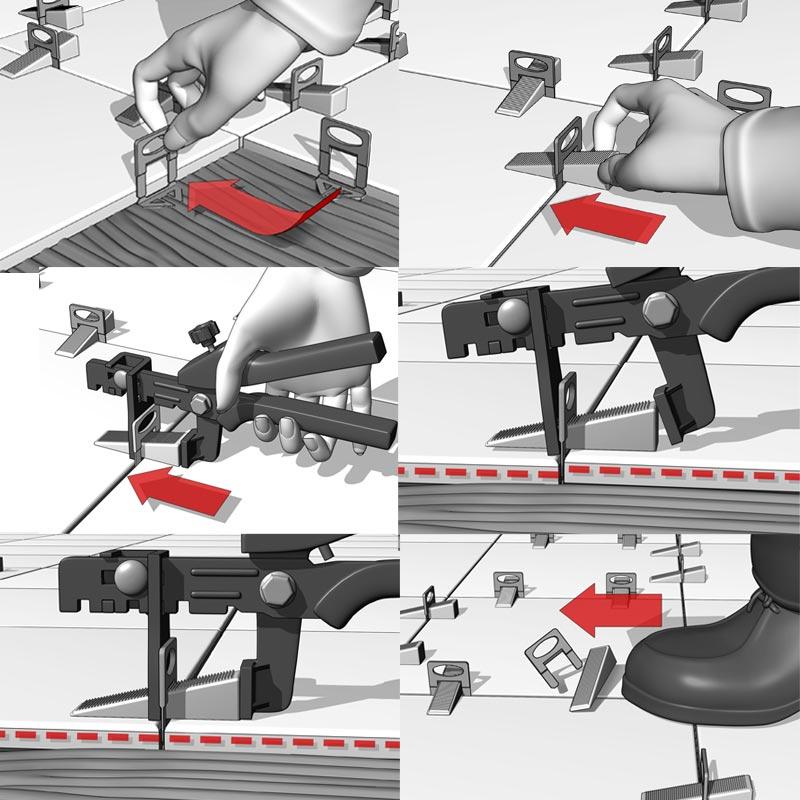 Nivåsystem för klinker och granitkeramik