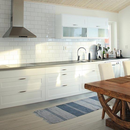 Vitt Kakel Kok 10X20 : Kakel for badrum & tvottstuga