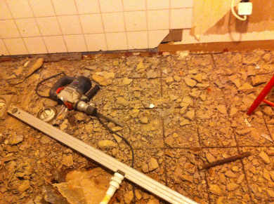 Renovering av badrum.